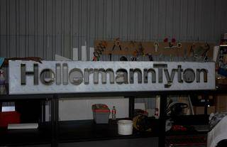 hellerman tyton sign cut no perspex backing